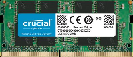 Crucial 8GB DDR4-3200 SODIMM PC4-25600 CL22, 1.2V