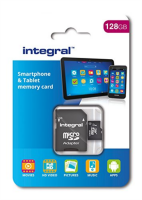 INTEGRAL 128GB SMARTPHONE & TABLET MICRO SDXC class10 UHS-I U1 80MB/s SPOMINSKA KARTICA+ SD ADAPTER