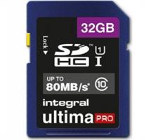 INTEGRAL 32GB SDHC UltimaPro CLASS10 80MB UHS-I U1 spominska kartica