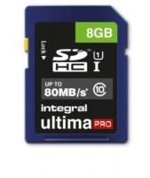 INTEGRAL 8GB SDHC UltimaPro CLASS10 80MB UHS-I U1 spominska kartica