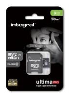 INTEGRAL 8GB MICRO SDHC class10 90MB/s SPOMINSKA KARTICA+ SD ADAPTER