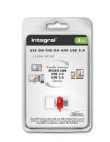 INTEGRAL 8GB MICRO FUSION USB3.0 OTG spominski ključek