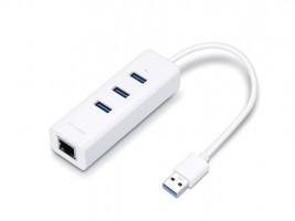TP-LINK USB 3.0 3-Port Hub & Gigabit Ethernet Adapter 2v1