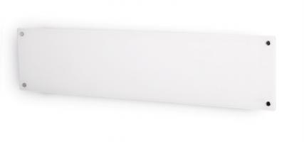 MILL panelni konvekcijski radiator 1000W bel steklo low profile MB1000L DN