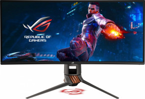ASUS PG349Q 34'' ROG SWIFT Gaming IPS ukrivljen monitor, 3440 x 1440, 4ms, 120Hz, DisplayPort, USB3.0, zvočniki, G-SYNC