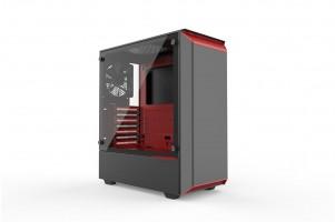 PHANTEKS ECLIPSE P300 TEMPERED GLASS USB3 ATX črno/rdeče ohišje