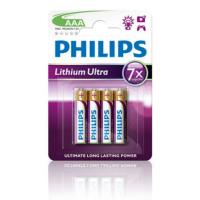 PHILIPS BATERIJA AAA - LITHIUM ULTRA BLISTER 4 KOS (LR3)