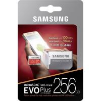 Samsung 256GB EVO+ MICRO SDXC UHS-I  class10 U3 4K UltraHD 100MB/s SPOMINSKA KARTICA+ SD ADAPTER