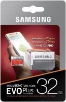 Samsung 32GB EVO+ MICRO SDHC UHS-I  class10 U1 FHD 95MB/s SPOMINSKA KARTICA+ SD ADAPTER