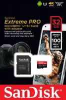 SanDisk 32GB Extreme Pro Micro SDHC A1 Class10 V30 UHS-I U3 spominska kartica