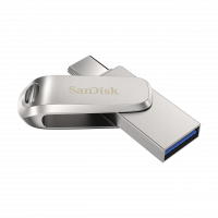SanDisk Ultra Dual Drive Luxe USB Type-C 32GB 150MB/s USB 3.1 Gen 1, srebrn