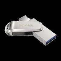 SanDisk Ultra Dual Drive Luxe USB Type-C 64GB 150MB/s USB 3.1 Gen 1, srebrn