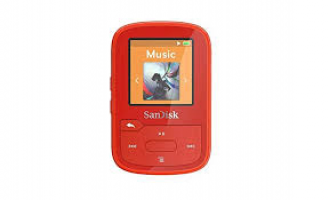 SanDisk Clip Sport Plus MP3 player 16gb rdeča barva