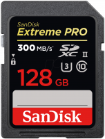 SanDisk 128GB EXTREME PRO SD UHS-II CARD 300 MB/S