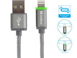 Sandberg Lightning LED osvetljen kabel, 1m