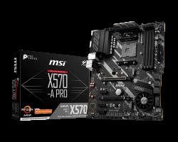 MSI X570-A PRO, DDR4, SATA3, USB3.2Gen2, AM4 ATX
