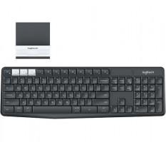 Logitech brezžična tipkovnica K375s Multi-Device Wireless Unifying črna, SLO
