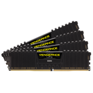 Corsair VENGEANCE LPX 32GB (4 x 8GB) DDR4 DRAM 3600MHz PC4-28800 CL18, 1.2V/1.35V