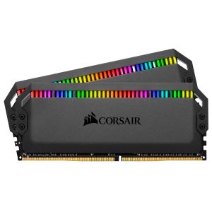 Corsair DOMINATOR PLATINUM RGB 16GB (2 x 8GB) DDR4 DRAM 3200MHz PC4-25600 CL16, 1.2V