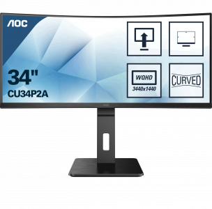 AOC CU34P2A 34'' Ultra Wide ukrivljen gaming monitor