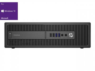 HP EliteDesk 800 G2 SFF i5-6500 8GB 256GB SSD NVidia310 Windows 10 Pro - obnovljen računalnik