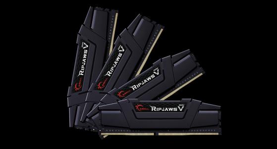 G.Skill Ripjaws V 64GB Kit (4x16GB) DDR4-3200MHz, CL16, 1.35V