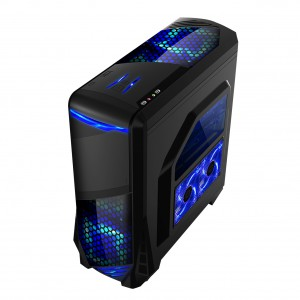 SPIRE X2 GLADIATOR WINDOW ATX LED fan ohišje