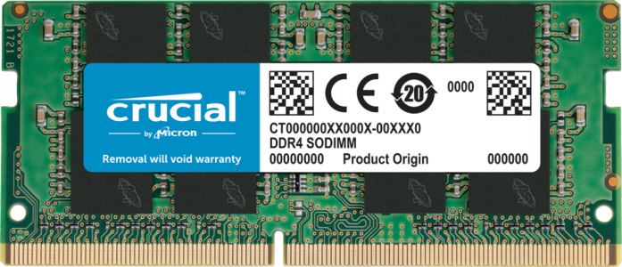 Crucial 32GB DDR4-2666 SODIMM PC4-21300 CL19, 1.2V