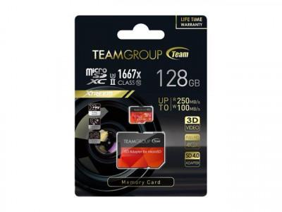 Teamgroup Color Xtreem 128GB SD UHS-II U3 250MB/s spominska kartica