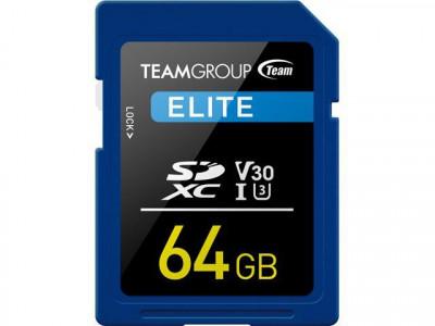 Teamgroup Elite 64GB SD UHS-I V30 90MB/s spominska kartica