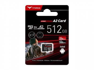 Teamgroup  Gaming A2 512GB MicroSD UHS-I U3 V30 100/90MB/s spominska kartica