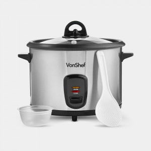 VonShef družinski kuhalnik za riž/soparnik 1.8L