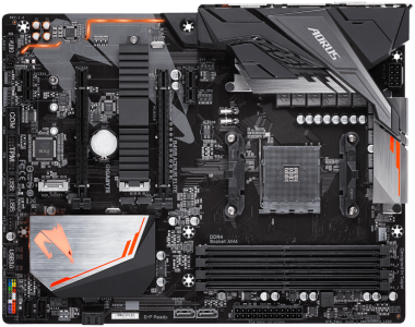 GIGABYTE B450 AORUS ELITE, DDR4, SATA3, USB3.1Gen1, DP, M.2, AM4 ATX