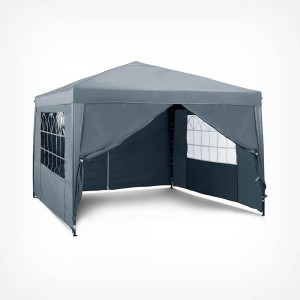 VonHaus Pop Up paviljon 3 x 3m Slate Grey z utežmi