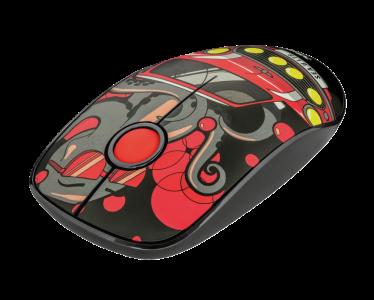 Trust brezžična miška Sketch Silent Click - rdeča