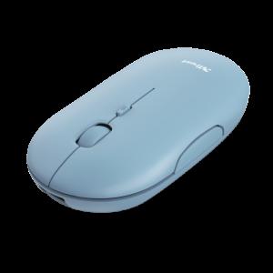 Trust brezžična miška Bluetooth za polnjenje Puck - modra