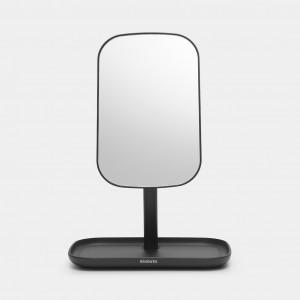 Brabantia ReNew ogledalo s posodico za odlaganje temno siva