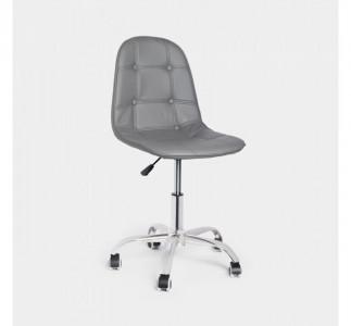 VonHaus pisarniški stol siv faux leather