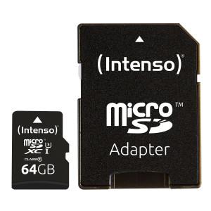 Intenso 64GB microSDXC UHS-I Class 10 Pro spominska kartica