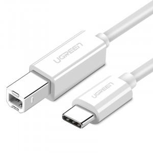 Ugreen USB-C v USB 2.0 kabel za tiskalnik  1.5m bel