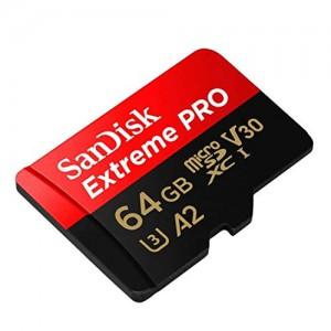 SanDisk 64GB Extreme Pro Micro SDXC Class10 U3 UHS-II spominska kartica + adapter