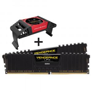 Corsair VENGEANCE LPX 16GB (2 x 8GB) DDR4 DRAM 3600MHz PC4-28800 CL18, 1.2V/1.35V + Airflow hladilni sistem