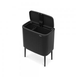 Brabantia koš za smeti (touch) 11+23L mat črn