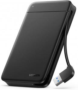 """Ugreen 2,5"""" ohišje trdega diska z vgrajenim kablom USB 3.0"""