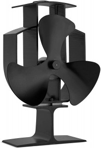 VonHaus ventilator za kamin črn aluminij