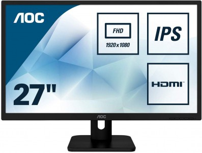 "AOC 27E1H 27"" IPS monitor"