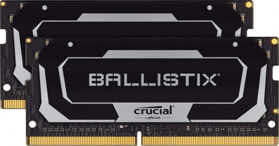Crucial Ballistix 16GB Kit (2 x 8GB) DDR4-2666 SODIMM PC4-21300 CL16, 1.2V