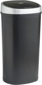 VonHaus koš za smeti 50L kovinsko črn - z avtomatičnim odpiranjem