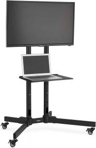 """VonHaus 32-65"""" TV voziček/stojalo za prenosnik do 50kg"""
