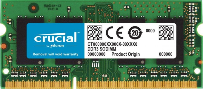 Crucial 8GB DDR3L-1600 SODIMM PC3-12800 CL11, 1.35V/1.5V za Mac